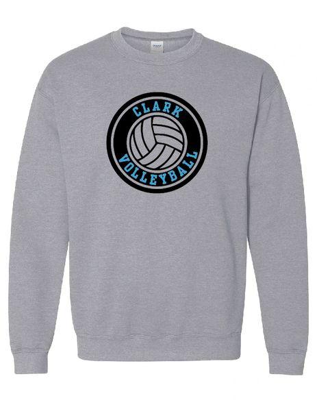 Clark Volleyball Crewneck Sweatshirt Circle Design
