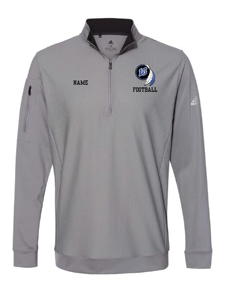 Lake Central Football Embroidered Performance Textured Quarter-Zip Pullover