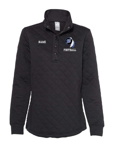 Lake Central Football Embroidered Quilted Snap Pullover