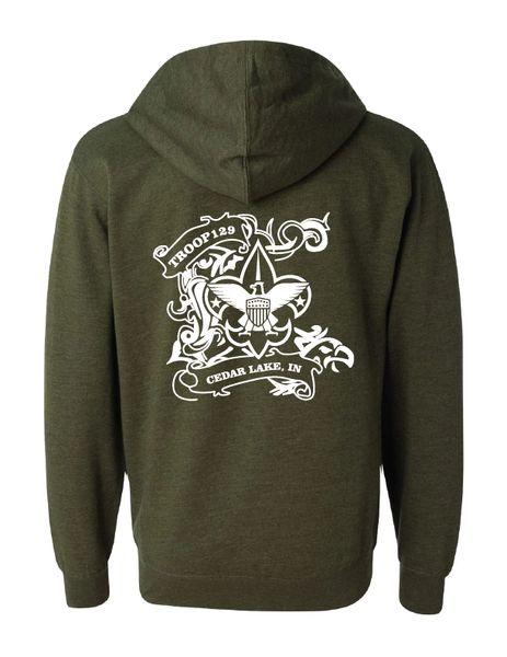 Troop 129 Midweight Full-Zip Hooded Sweatshirt