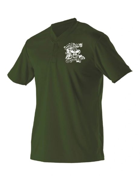 Troop 129 Baseball Two Button Henley Jersey