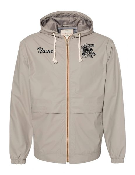 Troop 129 Embroidered Vintage Hooded Rain Jacket