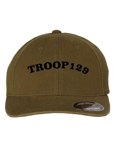 Troop 129 Embroidered Garment-Washed Cap