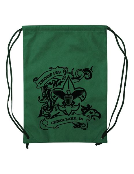 Troop 129 Non-Woven Drawstring Backpack