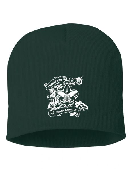 """Troop 129 Embroidered 8"""" Knit Beanie"""