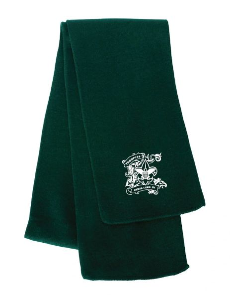 Troop 129 Embroidered Knit Scarf