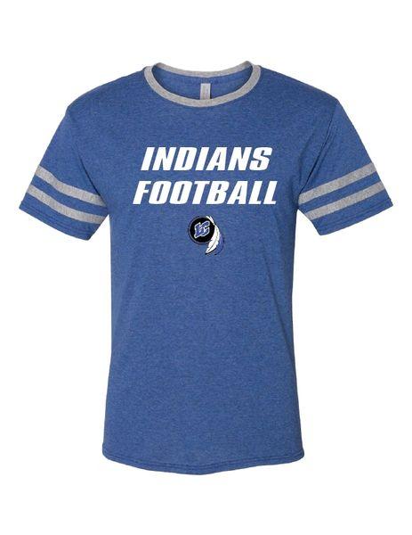 Indians Football Triblend Varsity Ringer T-Shirt