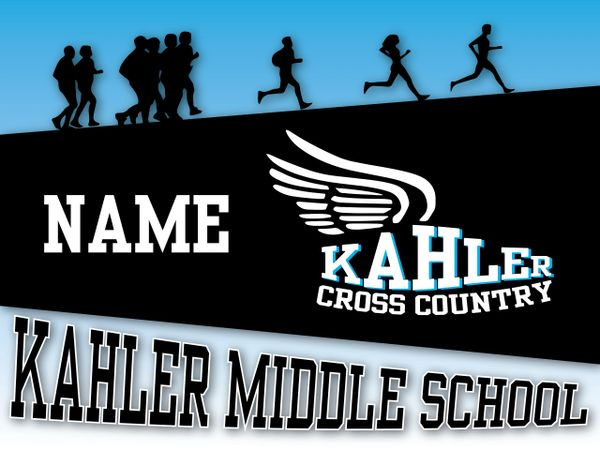 Kahler Cross Country Yard Sign
