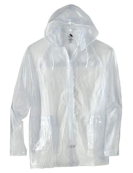 Clear Hooded Rain Jacket