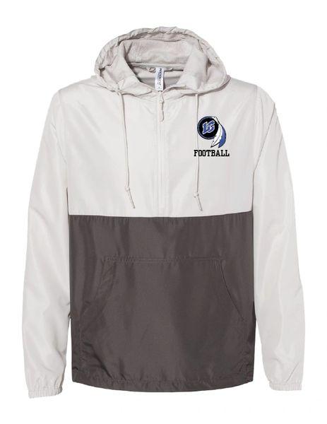 Lake Central Football Embroidered Unisex Lightweight Quarter-Zip Windbreaker Pullover Jacket