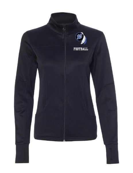 Lake Central Football Embroidered Women's Poly-Tech Full-Zip Track Jacket