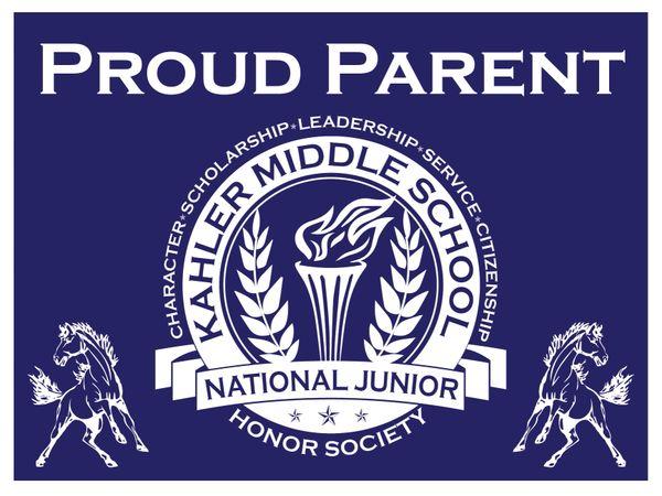 Kahler National Junior Honor Society Yard Sign