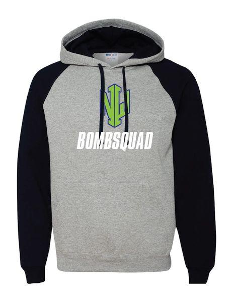 NWI Bombsquad Nublend® Colorblocked Raglan Hooded Sweatshirt