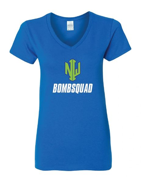 NWI Bombsquad Heavy Cotton™ Women's V-Neck T-Shirt