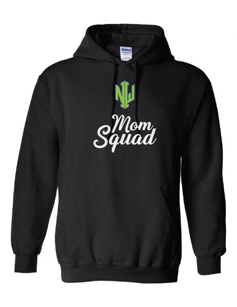 NWI Mom Squad Glitter Heavy Blend Hooded Sweatshirt