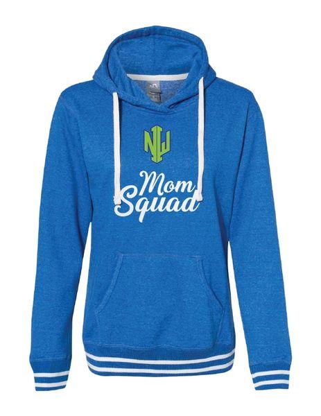 NWI Mom Squad Women's Glitter Relay Hooded Sweatshirt