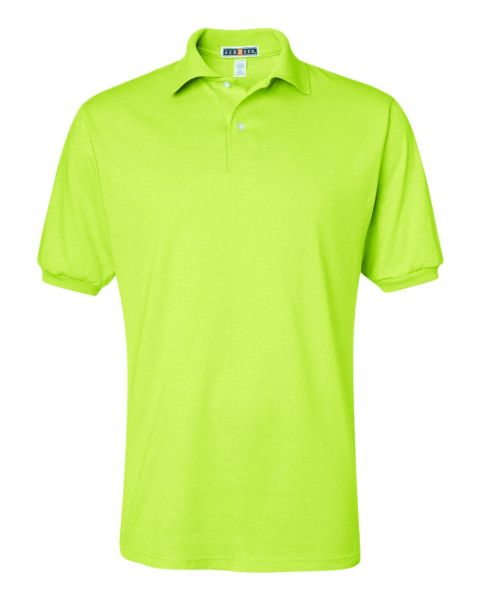 Safety Green 50/50 cotton/polyester Polo (In-Store)