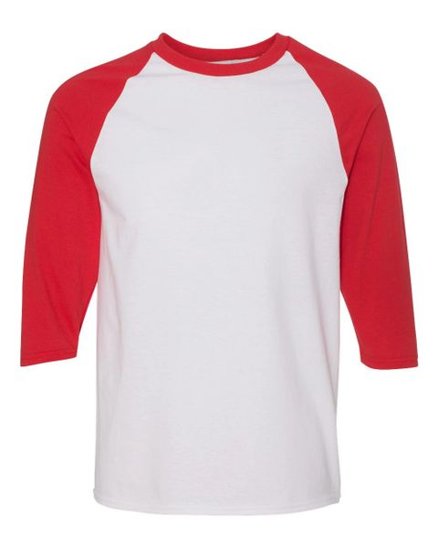 Raglan White/Red Three-Quarter Sleeve T-Shirt (In-Store)