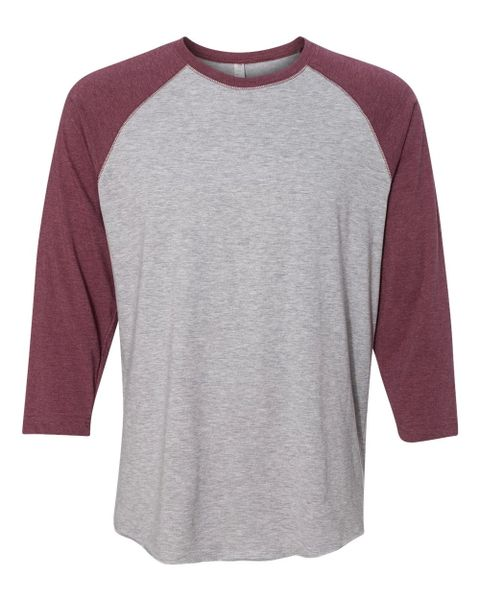 Raglan Vintage Heather/ Vintage Burgundy Three-Quarter Sleeve T-Shirt (In-Store)