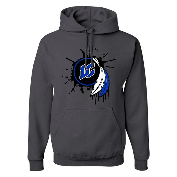 Splat Dream Catcher Charcoal Hoodie