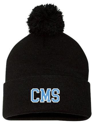 """CMS Pom Pom 12"""" Knit Beanie"""