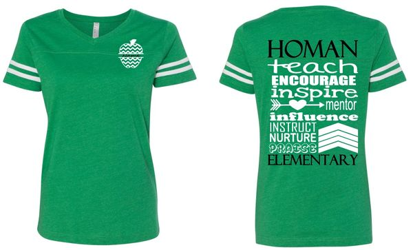 Homan Wordle V-neck