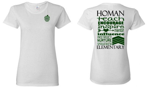 Homan Wordle Ladies T-shirt