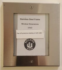 Stainless Steel Frames Fire Department Signs