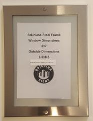 ELEVATOR INSPECTION FRAME STAINLESS STEEL (SIZE 5''X7'')
