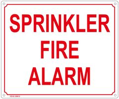 SPRINKLER FIRE ALARM SIGN (FIRE DEPARTMENT SIGN - FIRE DEPARTMENT SIGN - FIRE DEPARTMENT SIGN (ALUMINUM SIGN SIZED 10X12)
