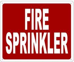 FIRE SPRINKLER SIGN- REFLECTIVE !!! (ALUMINUM 10X12)