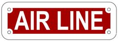 AIR LINE SIGN- REFLECTIVE !!! (ALUMINUM 2X6)