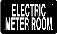 ELECTRIC METER ROOM SIGN (ALUMINUM 6X10)