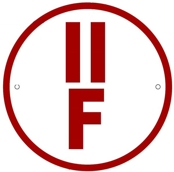 FLOOR TRUSS IDENTIFICATION SIGN-TYPE II- REFLECTIVE !!! (ALUMINUM, 6'' DIAMETER)