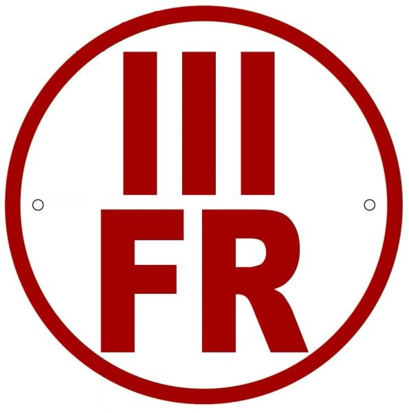 FLOOR AND ROOF TRUSS IDENTIFICATION SIGN-TYPE III- REFLECTIVE !!! (ALUMINUM, 6'' DIAMETER)