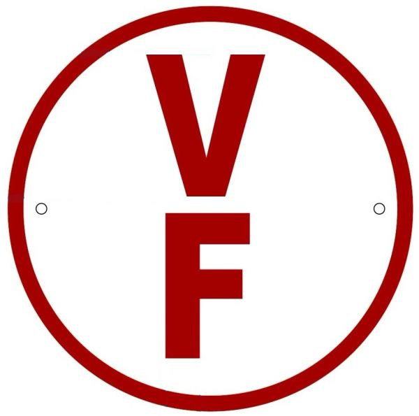 FLOOR TRUSS IDENTIFICATION SIGN-TYPE V- REFLECTIVE !!! (ALUMINUM, 6'' DIAMETER)