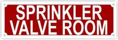 SPRINKLER VALVE ROOM SIGN- REFLECTIVE !!! (ALUMINUM 4X12)