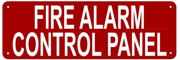 FIRE ALARM CONTROL PANEL SIGN- REFLECTIVE !!! (ALUMINUM 4X12)