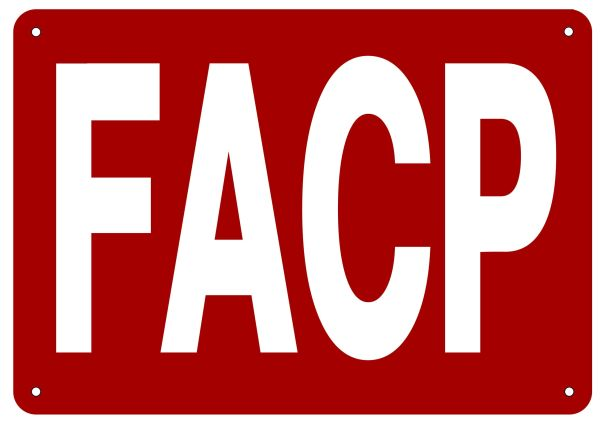 FACP SIGN- REFLECTIVE !!! (ALUMINUM 7X10)
