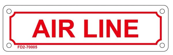 AIR LINE SIGN (ALUMINUM SIGN SIZED 2X7)