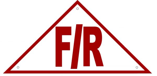 FLOOR AND ROOF TRUSS IDENTIFICATION SIGN- REFLECTIVE !!! (ALUMINUM 6x12 TRIANGLE)