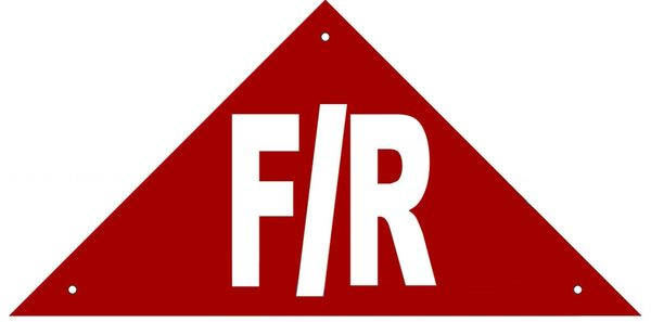 FLOOR AND ROOF TRUSS IDENTIFICATION SIGN- REFLECTIVE !!! (ALUMINUM, 6''x12'' TRIANGLE)