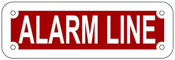 ALARM LINE SIGN- REFLECTIVE !!! (ALUMINUM 2X6)