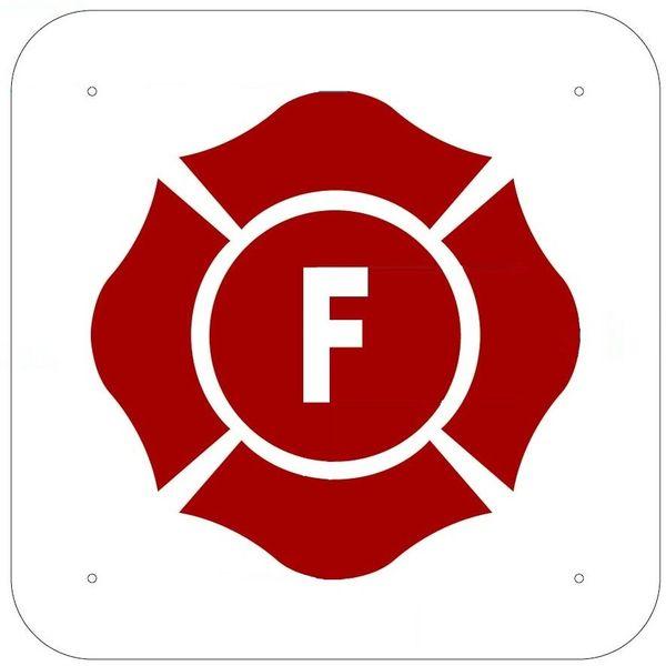 FLOOR TRUSS IDENTIFICATION SIGN- REFLECTIVE !!! (ALUMINUM 12x12 SQUARE)