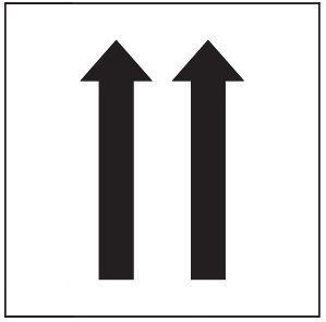 "PHOTOLUMINESCENT 2 UP ARROWS SIGN HEAVY DUTY / GLOW IN THE DARK ""TWO UPWARD ARROWS"" SIGN HEAVY DUTY (PHOTOLUMINESCENT ALUMINUM SIGN/ EGRESS DIRECTION SIGNS 1.5 X 1.5 )"