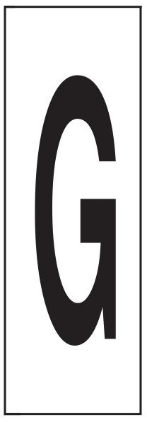 "PHOTOLUMINESCENT DOOR NUMBER G SIGN HEAVY DUTY / GLOW IN THE DARK ""DOOR NUMBER"" SIGN HEAVY DUTY (ALUMINUM SIGN/ APARTMENT AND EMERGENCY MARKINGS 1.5 X 0.5)"