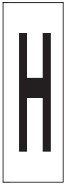 "PHOTOLUMINESCENT DOOR NUMBER H SIGN HEAVY DUTY / GLOW IN THE DARK ""DOOR NUMBER"" SIGN HEAVY DUTY (ALUMINUM SIGN/ APARTMENT AND EMERGENCY MARKINGS 1.5 X 0.5)"
