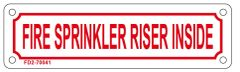 FIRE SPRINKLER RISER INSIDE SIGN (ALUMINUM SIGN SIZED 2X7)