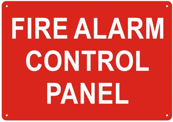 FIRE ALARM CONTROL PANEL SIGN- REFLECTIVE !!! (ALUMINUM SIGNS 7X10)