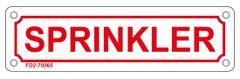 SPRINKLER SIGN (ALUMINUM SIGN SIZED 2X7)